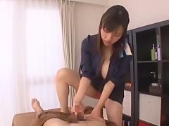 Hottest Japanese girl Azusa Nagasawa in Best Handjobs JAV clip