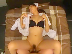 Horny Japanese chick Aoki Misora in Hottest Blowjob, Facial JAV movie