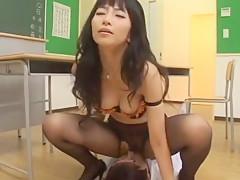 Amazing Japanese slut Runa Akatsuki, Nao Ayukawa, Cocoro Igarashi in Crazy Cougar, Cumshots JAV video