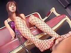 Horny Japanese chick Itsuka in Best JAV uncensored Stockings scene