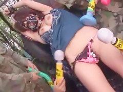 Crazy Japanese model Azumi Harusaki in Incredible Threesomes, Military JAV video