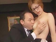 Hottest Japanese whore Yukari Ayasaki, Sae Aragaki in Amazing Secretary, Office JAV clip