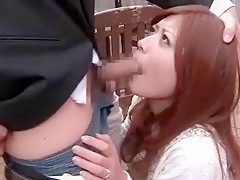 Horny Japanese whore Haruki Sato in Exotic Blowjob JAV movie