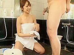 Hottest Japanese chick Sasa Handa, Ayami Sakurai, Meguru Kosaka in Exotic Handjob JAV scene