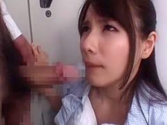 Hottest Japanese slut Rui Saotome in Incredible POV, Blowjob JAV scene