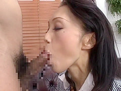 Horny Japanese chick Shihori Endo, Yuri Shirakawa, Misa Yuuki in Incredible Blowjob JAV movie