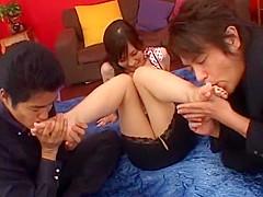 Crazy Japanese chick Nao Ayukawa in Amazing Fingering, Threesome JAV movie